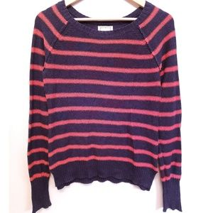 Anthro Kenji Striped Elbow Patch Sweater M